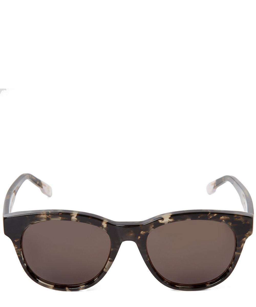 ZANZAN Rizzi Ink Acetate Square Sunglasses in Grey
