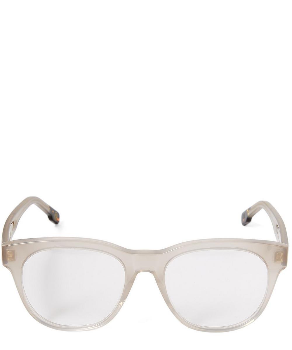 ZANZAN Rizzi Acetate Milky Square Optical Glasses in Grey