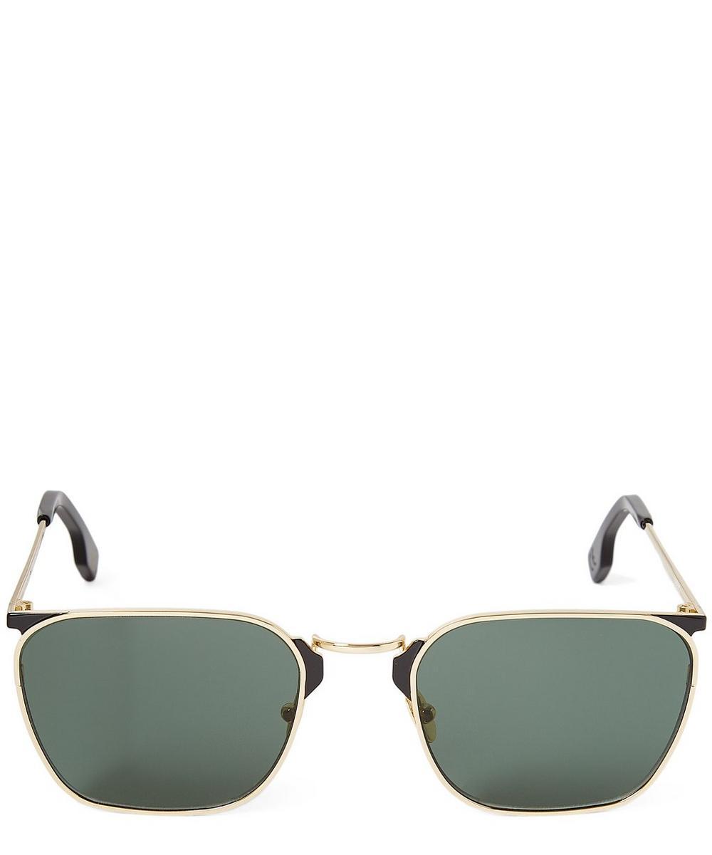 ZANZAN Libero Rectangular Acetate Sangria Sunglasses in White