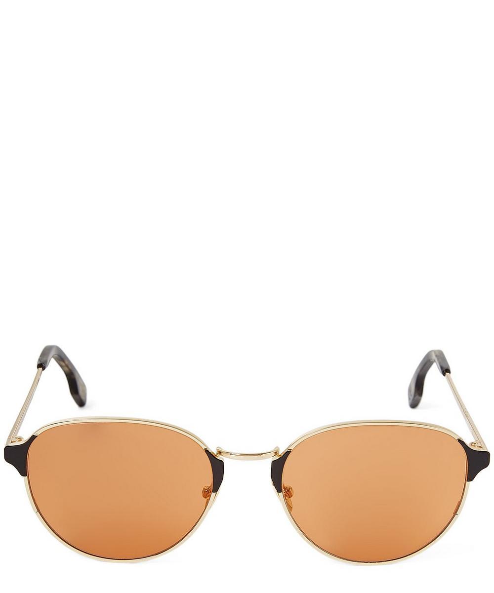 ZANZAN Arango Oval Metal Sunglasses in Gold
