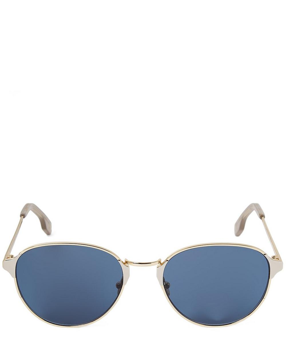 Arango Oval Metal Sunglasses