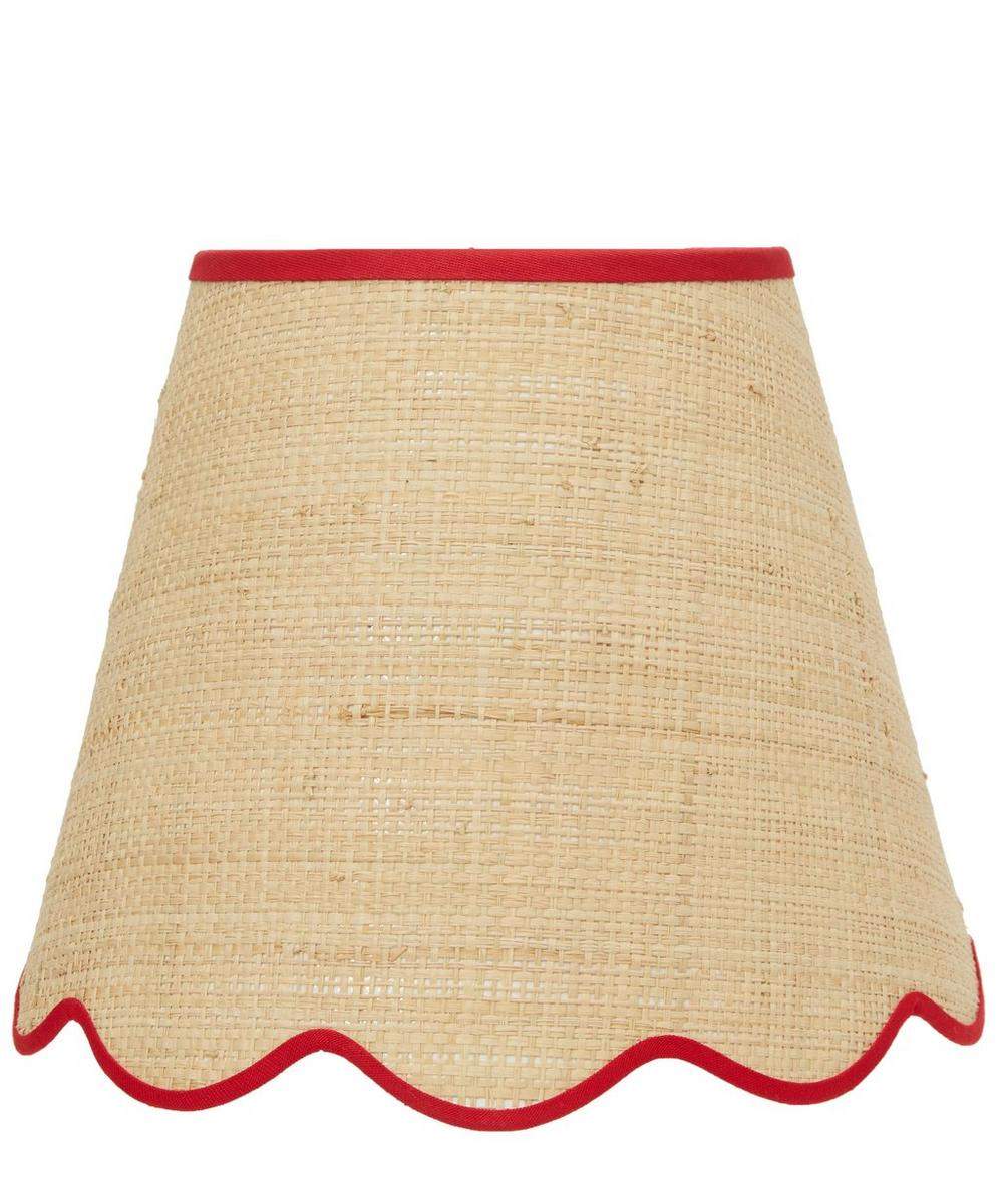Small Scalloped Raffia Liberty Print Lampshade in Elysian Day