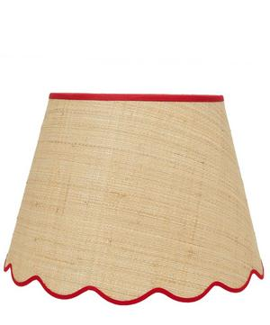 Medium Scalloped Raffia Liberty Print Lampshade in Elysian Day
