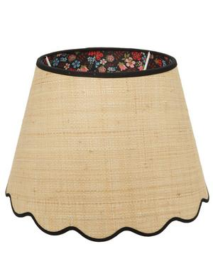 Medium Scalloped Raffia Liberty Print Lampshade in Edenham