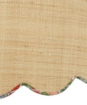 Large Scalloped Raffia Liberty Print Lampshade in Elysian Day