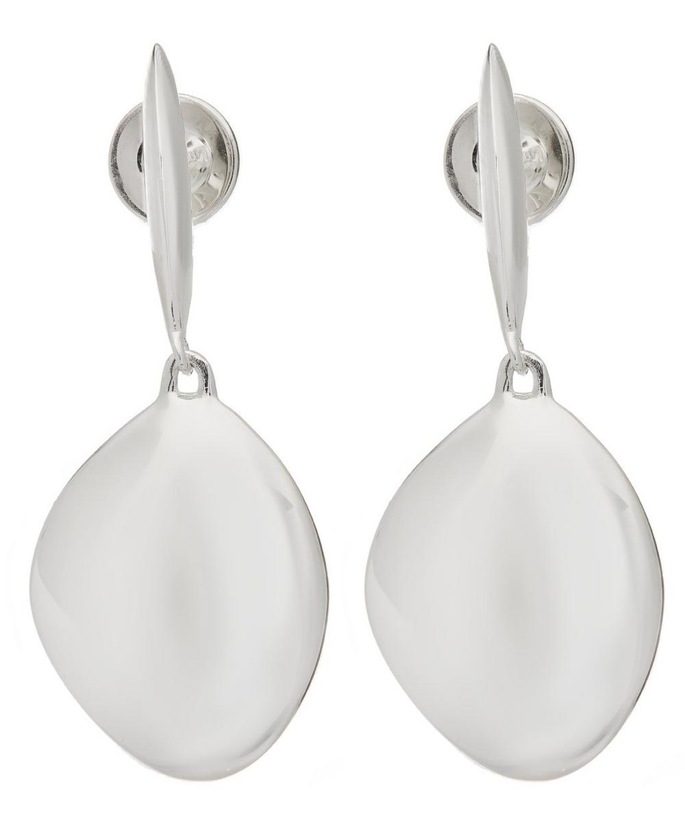 Silver Nura Teardrop Drop Earrings