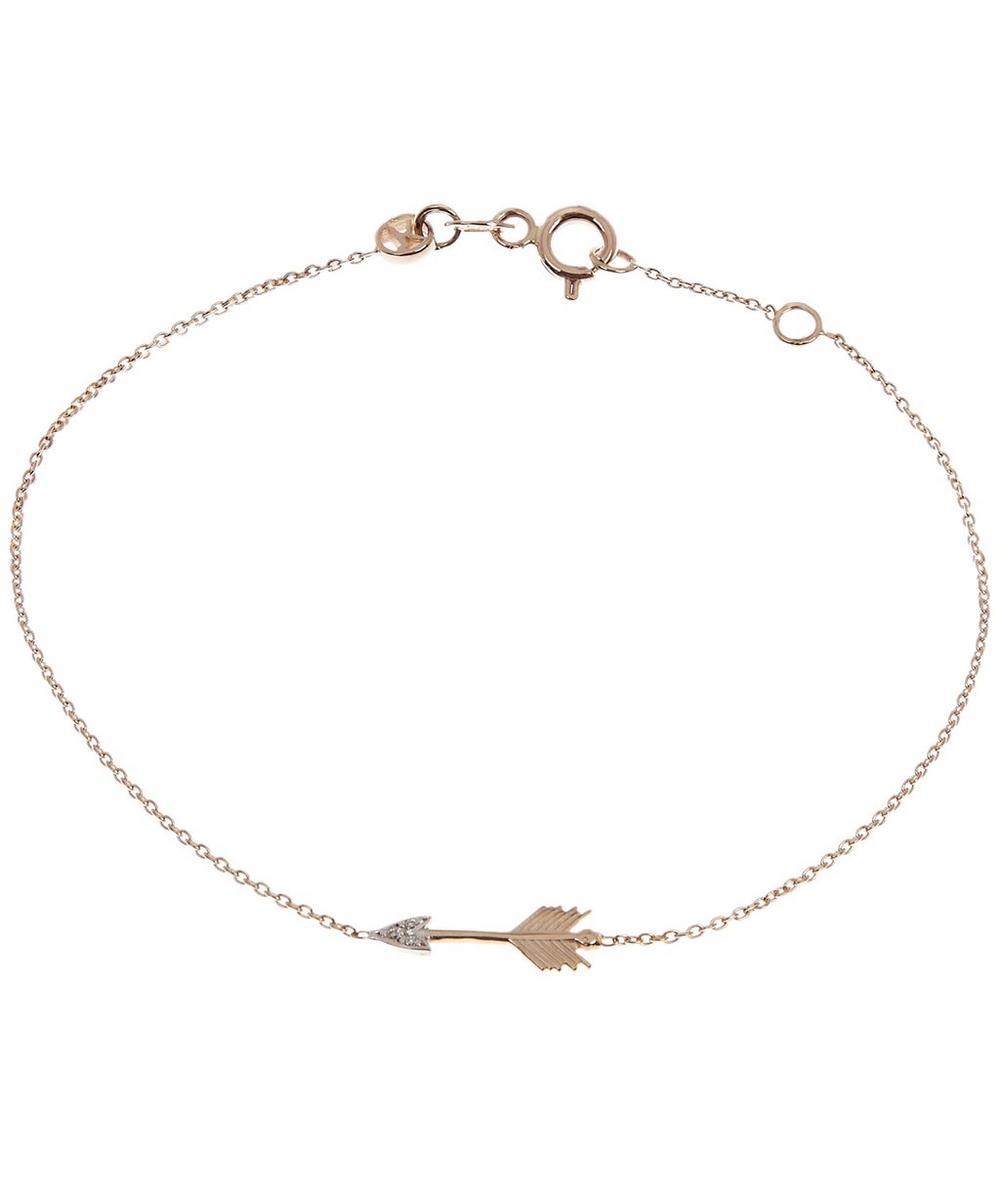 Rose Gold Victory Mini Arrow Diamond Bracelet