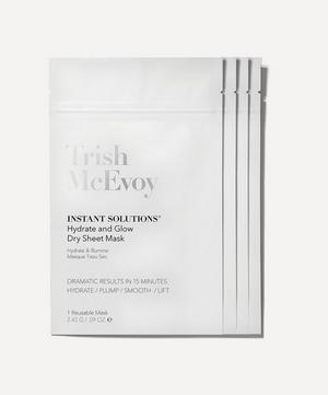 Instant Solutions Hydrate and Glow Dry Sheet Masks Pack of 4