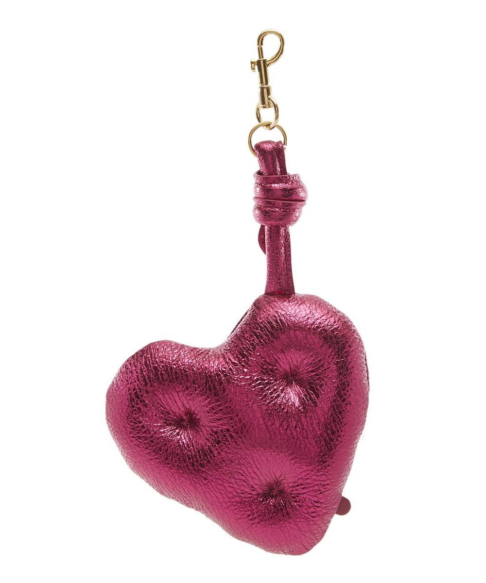 Metallic Chubby Heart Charm