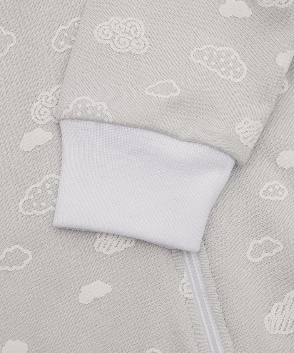 Cotton Cloud Print Footie 0-12 Months