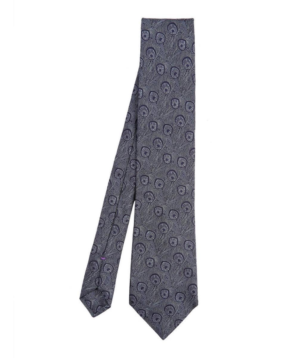 Hera Woven Silk Tie, Navy