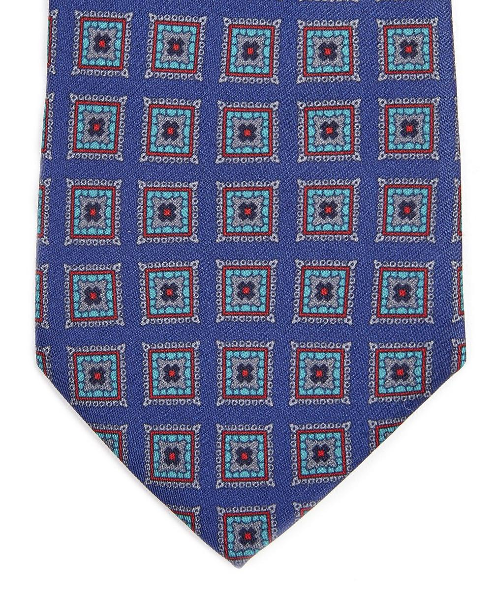Tiverton Printed Silk Tie