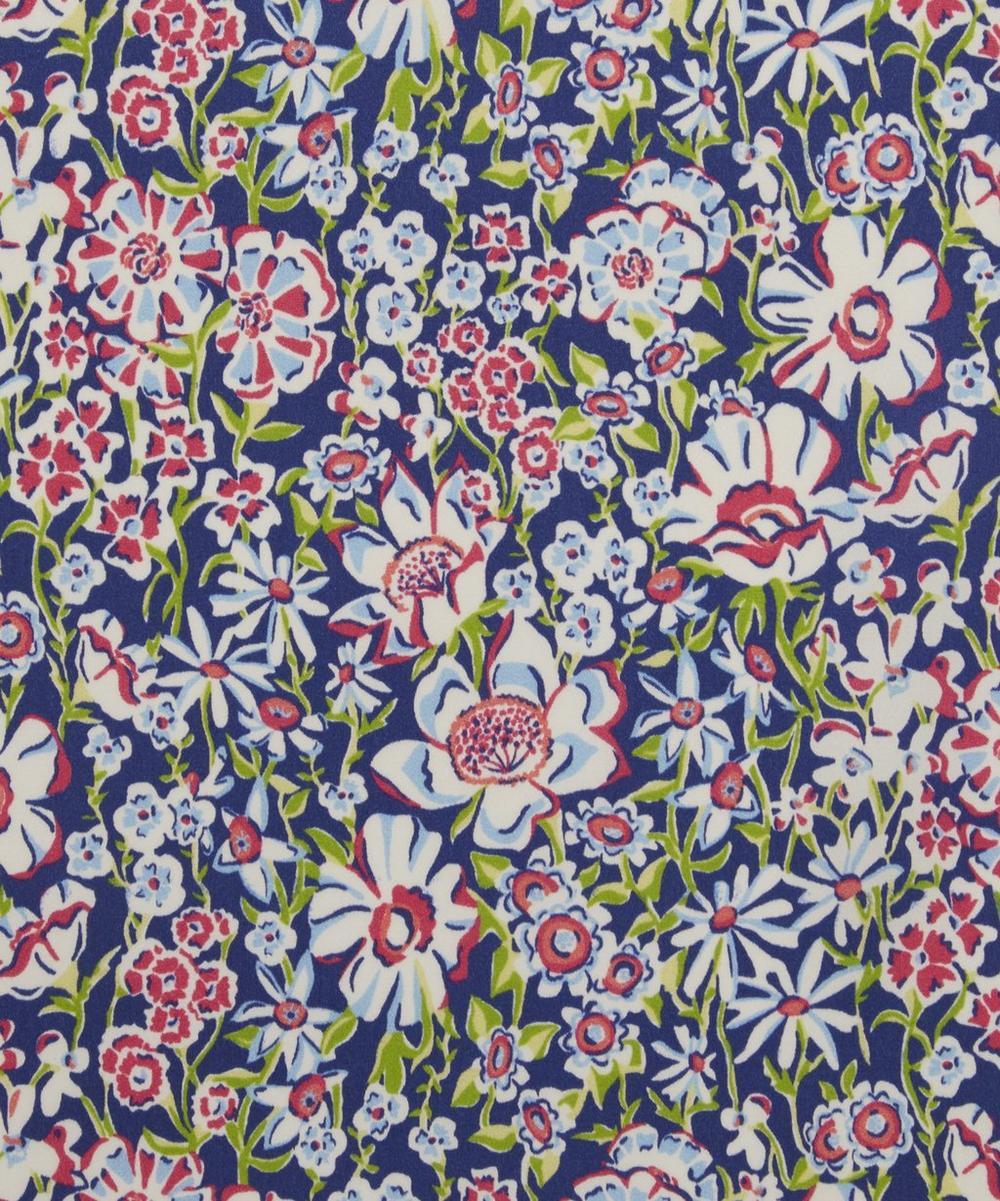 White Garden Silk Satin