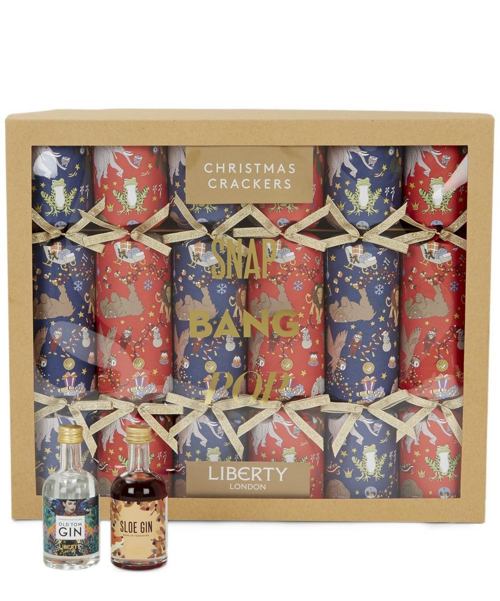Liberty Christmas Gin Crackers Set of Six
