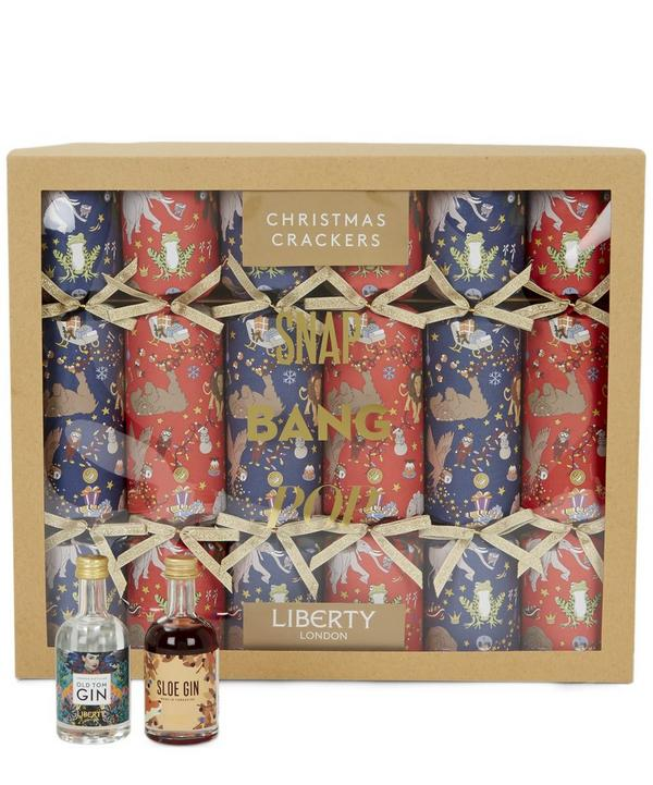 Liberty Christmas Gin Crackers Set of Six