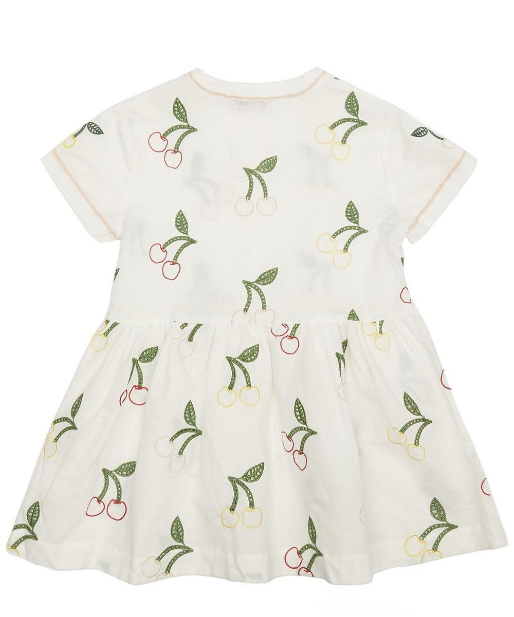Embroidered Cherry Dress 3-8 Years