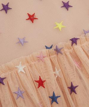 Embroidered Star Tulle Dress 3-8 Years