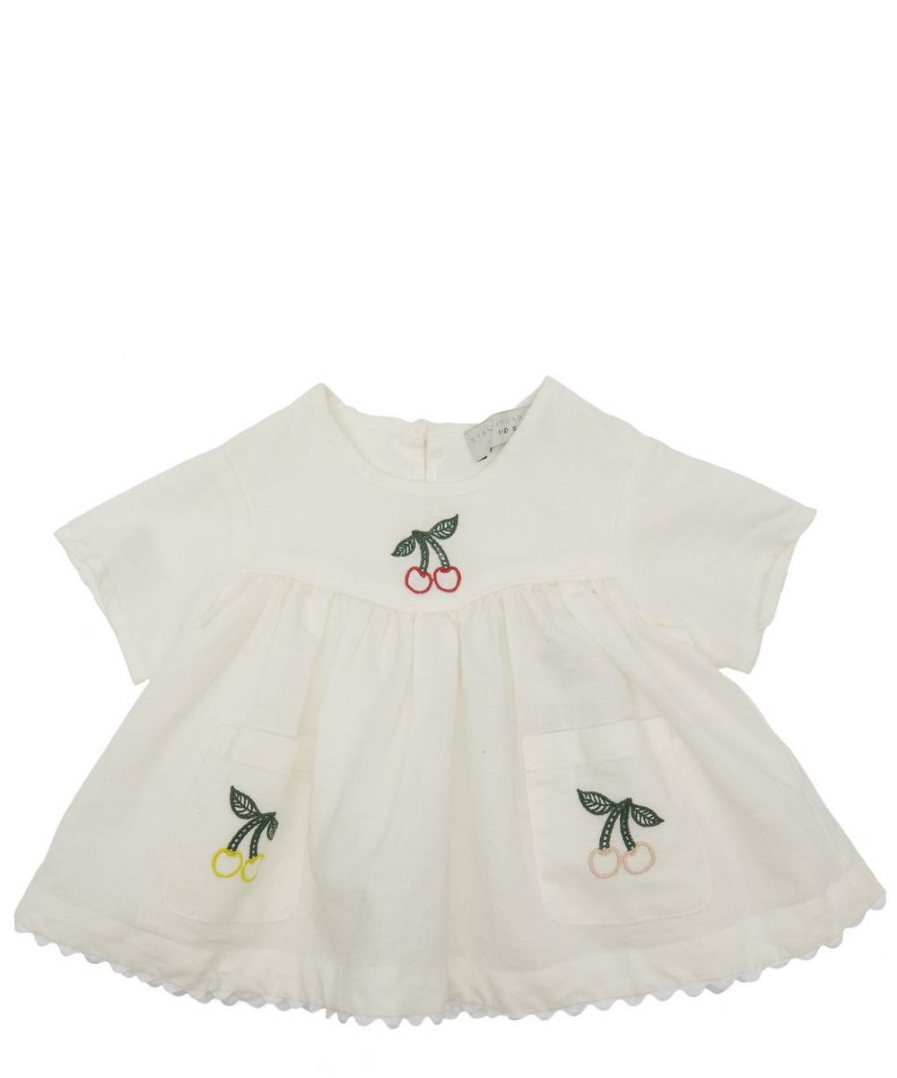 Embroidered Cherry Blouse 3-24 Months