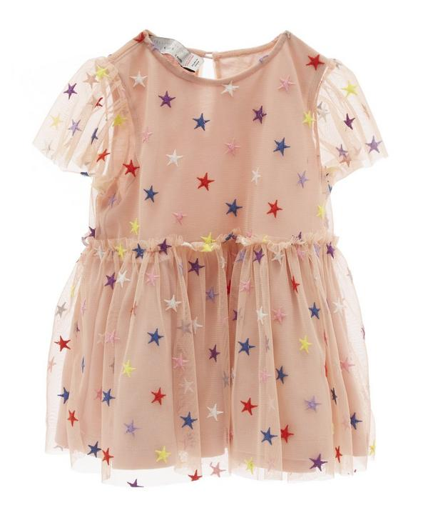 Embroidered Star Dress with Bloomers 3 Months-2 Years