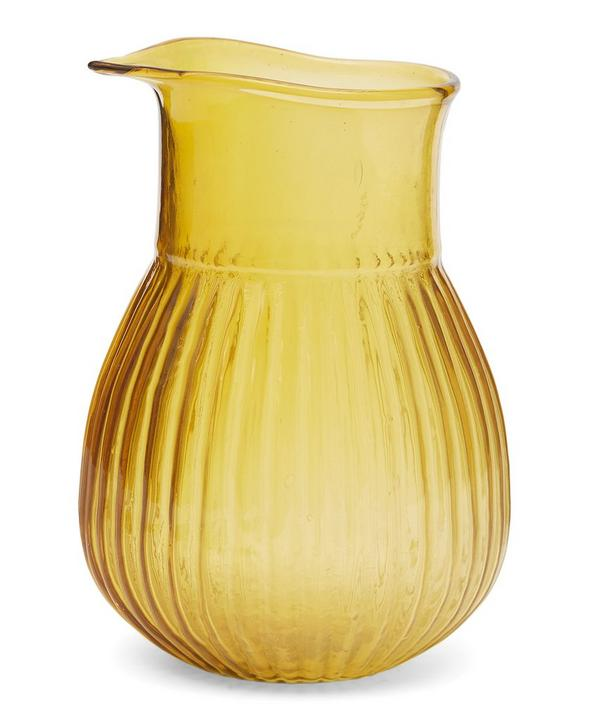 Varsha Striped Glass Jug