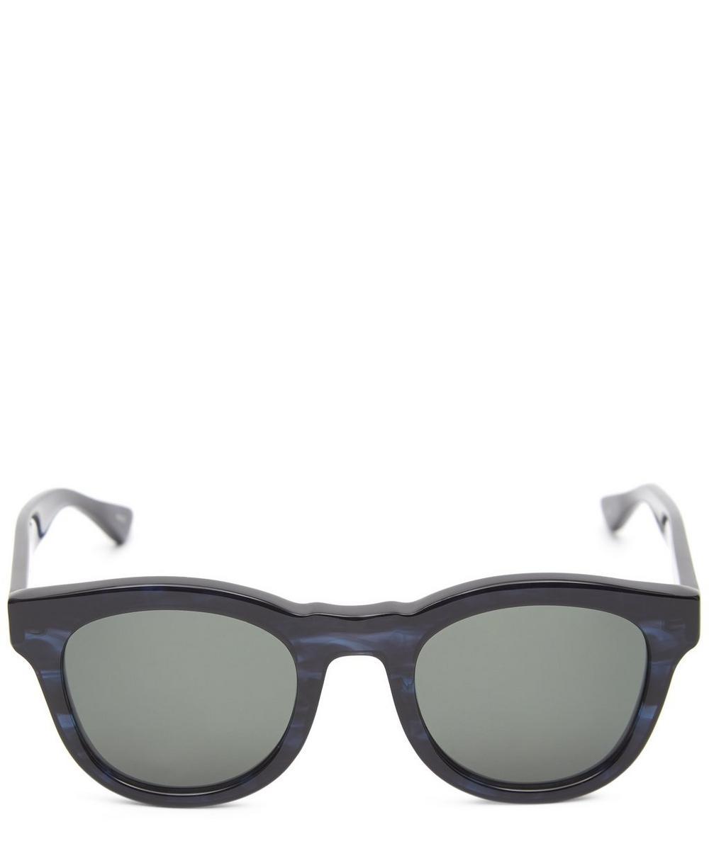 RICHARD JAMES Kim Oversized Acetate Sunglasses in Blue