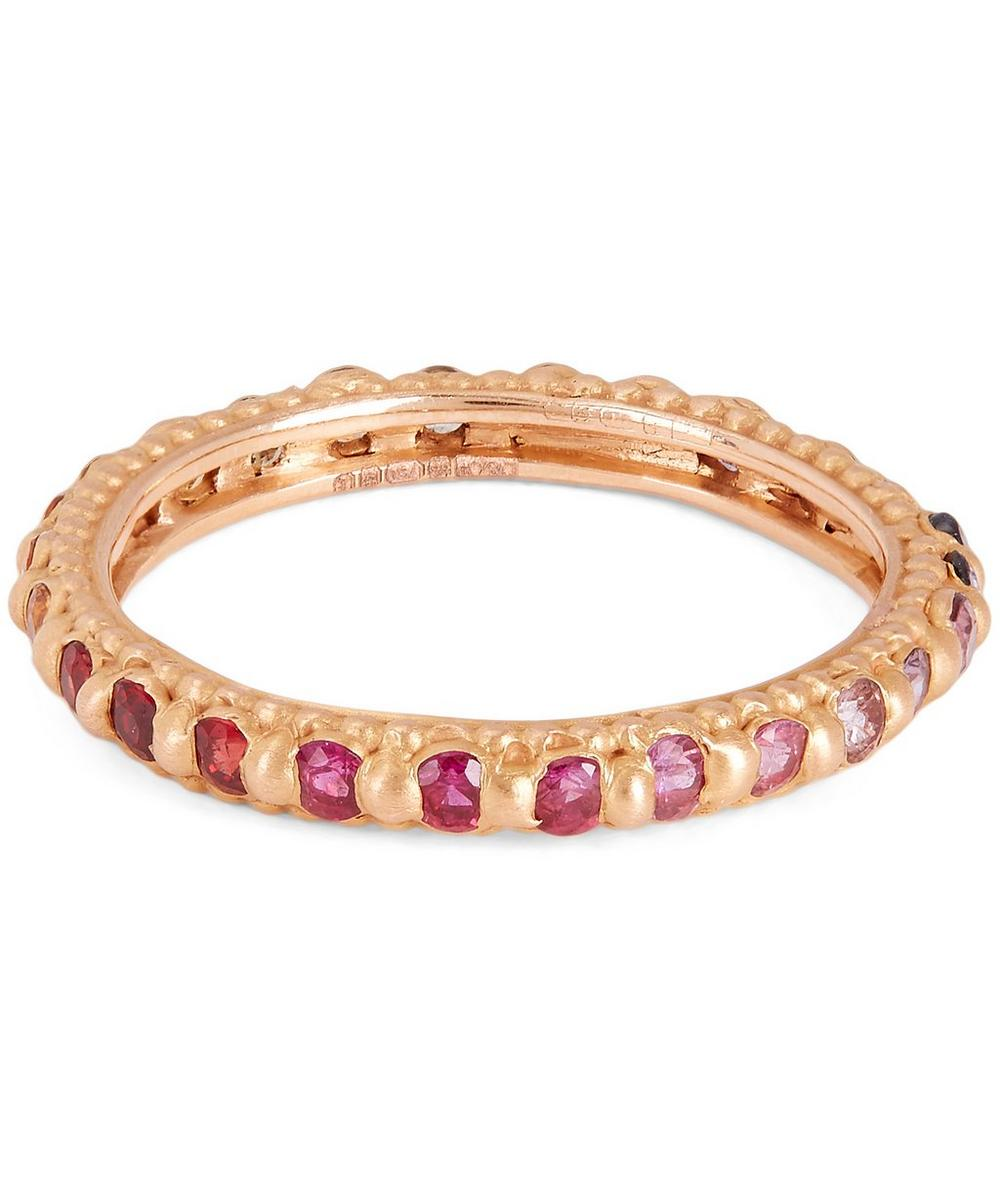 POLLY WALES ROSE GOLD MULTI-STONE RAPUNZEL RING
