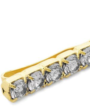 Antique Gold-Tone Crystal Hair Slides