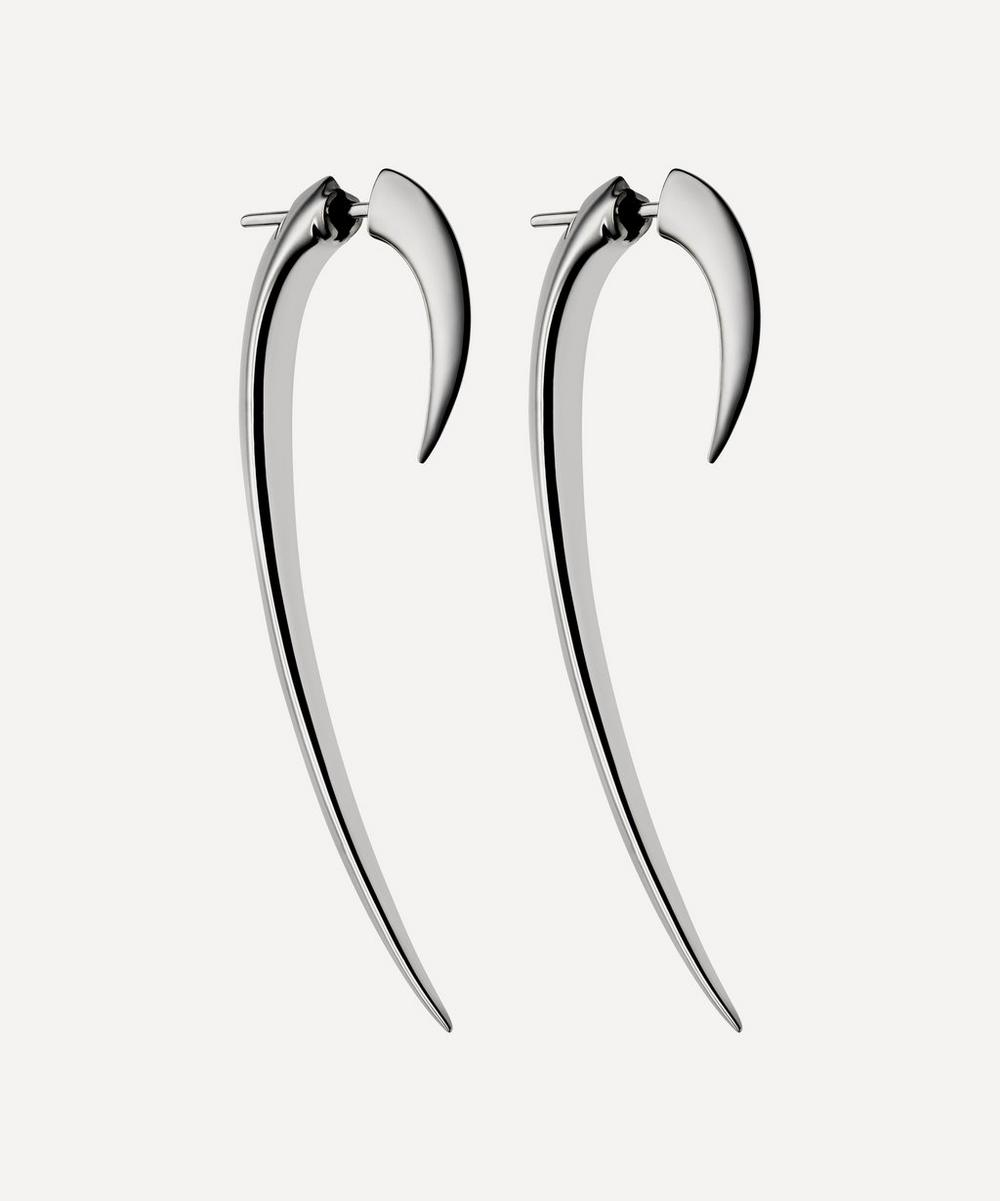 Silver Large Hook Earrings