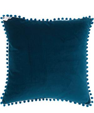 Large Melina Silk Pom Pom Cushion