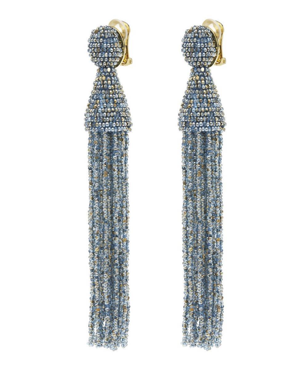 Long Beaded Tassel Earrings