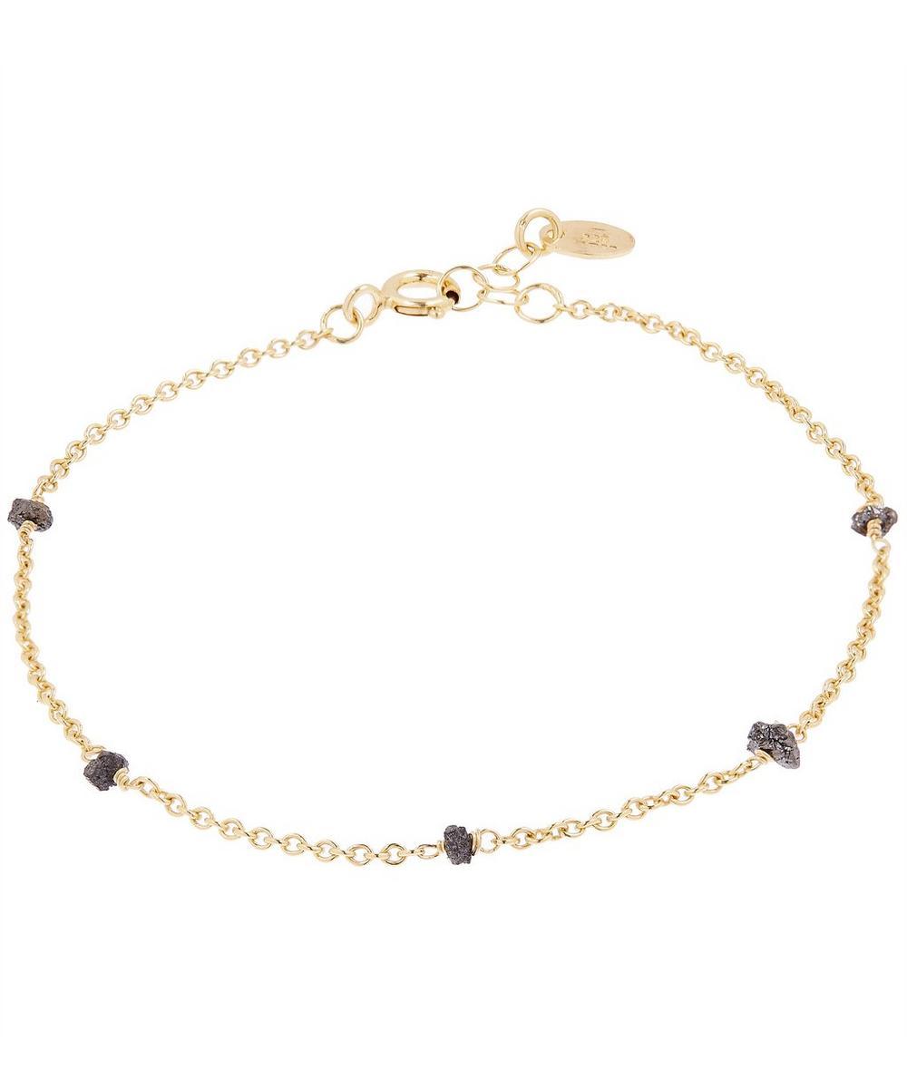 STEPHANIE SCHNEIDER Gold-Plated Raw Diamond Loose Chain Bracelet in Silver