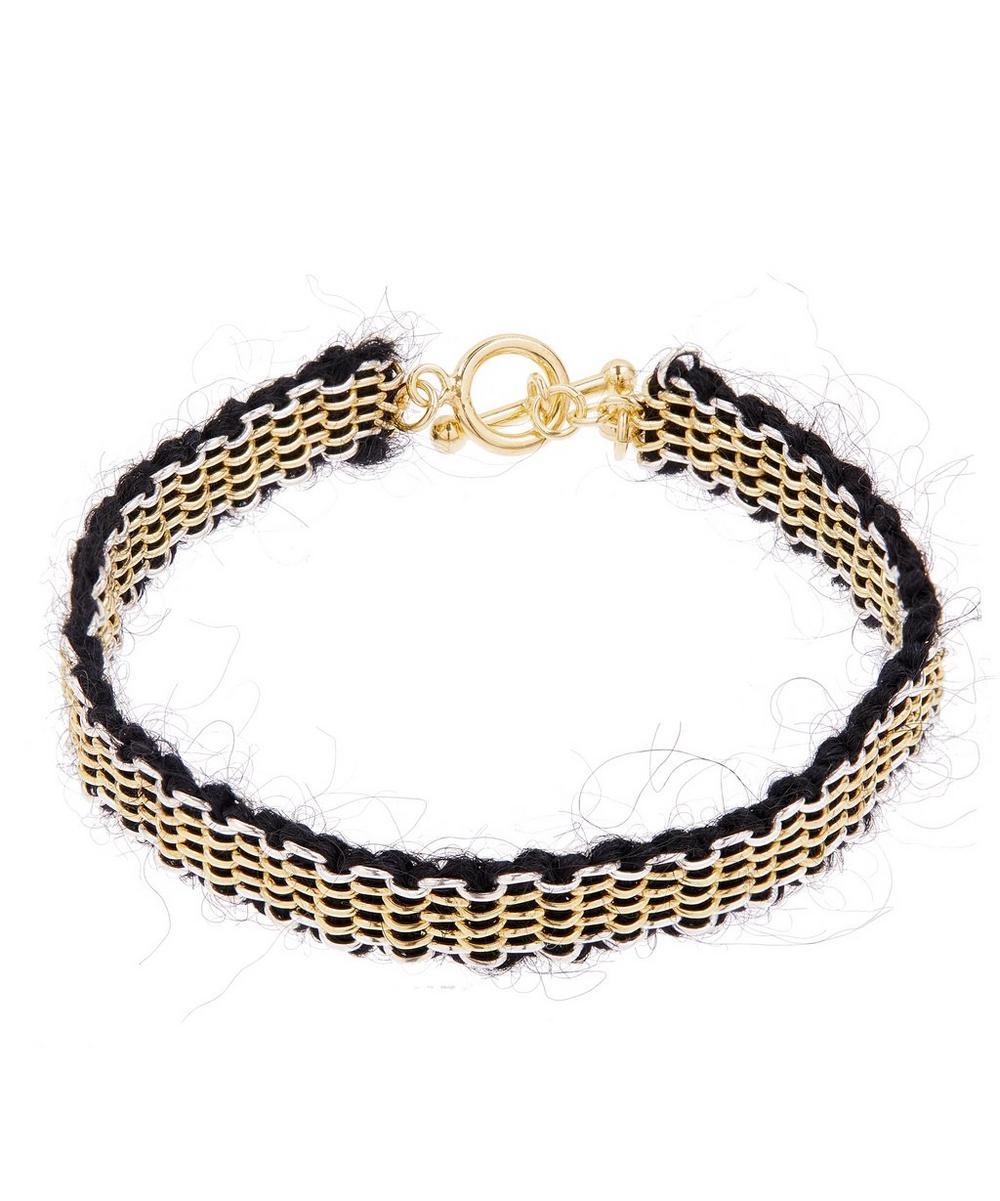 STEPHANIE SCHNEIDER Silver Mohair Chain Bracelet