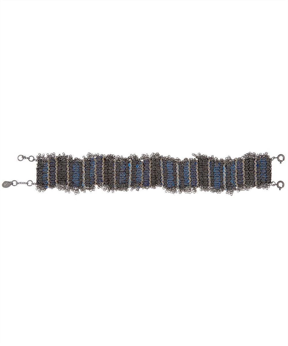 STEPHANIE SCHNEIDER Oxidised Silver Silk Chain Bracelet
