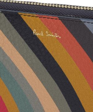 Large Swirl Stripe Zip-Around Purse