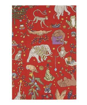 Tana Lawn Cotton Covered Liberty Christmas Print Card