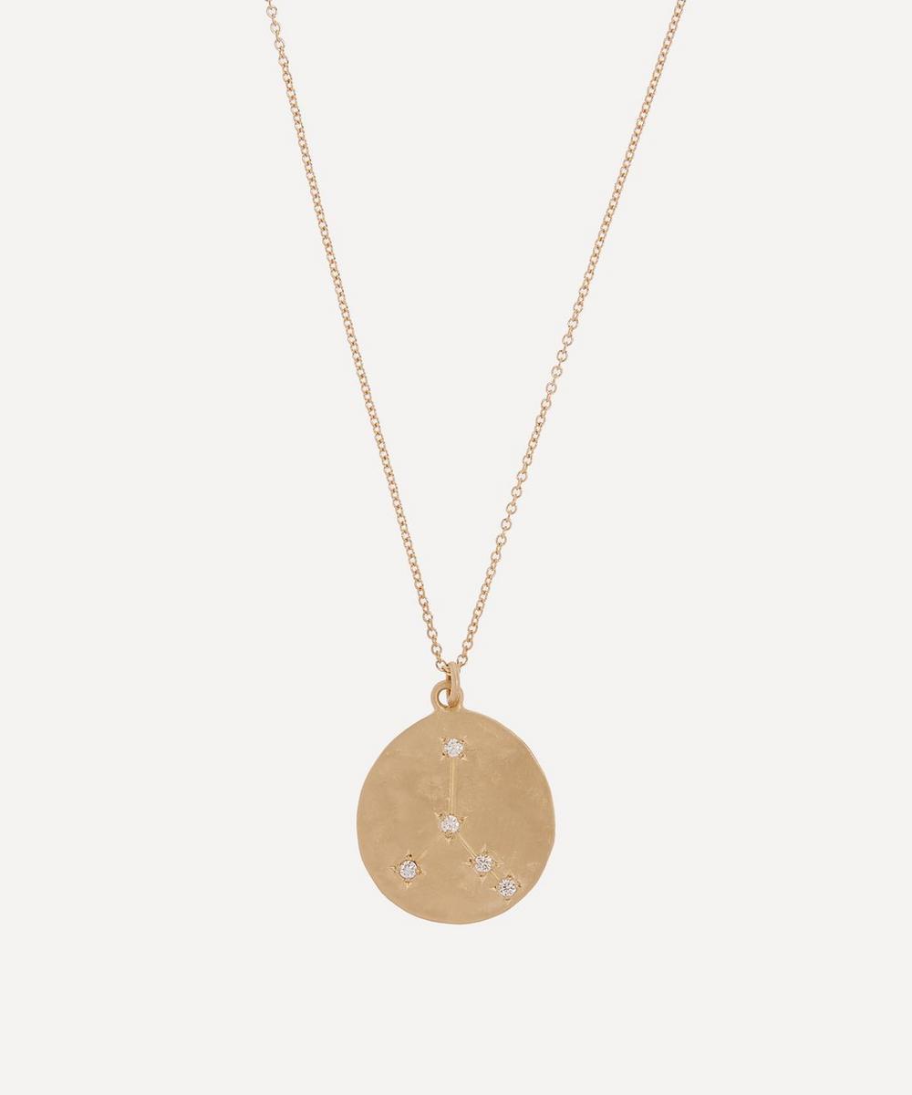 Brooke Gregson - Gold Cancer Astrology Diamond Necklace