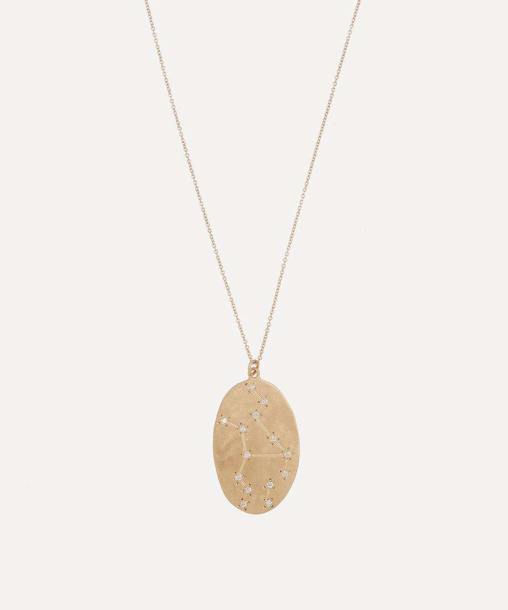 Brooke Gregson - 14ct Gold Virgo Astrology Diamond Necklace