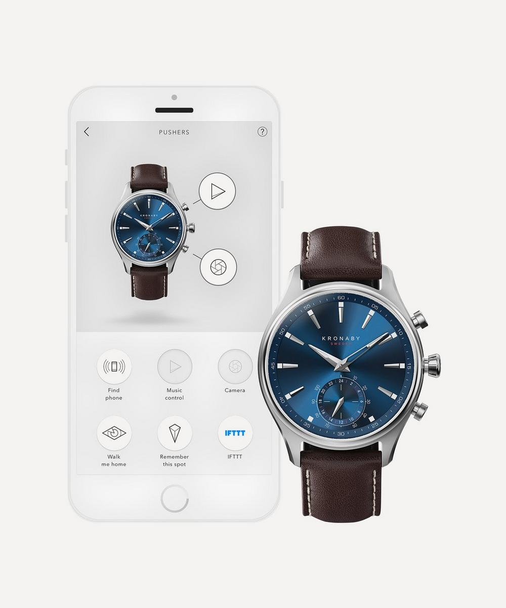 Sekel Brown Leather Strap Smart Watch