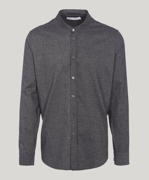 Grandad Collar Brushed Cotton Pyjama Shirt