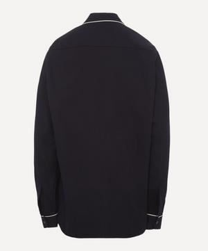 Brushed Cotton Piping Pyjama Shirt