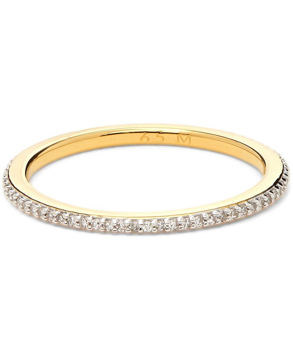 Gold Vermeil Skinny Diamond Eternity Ring