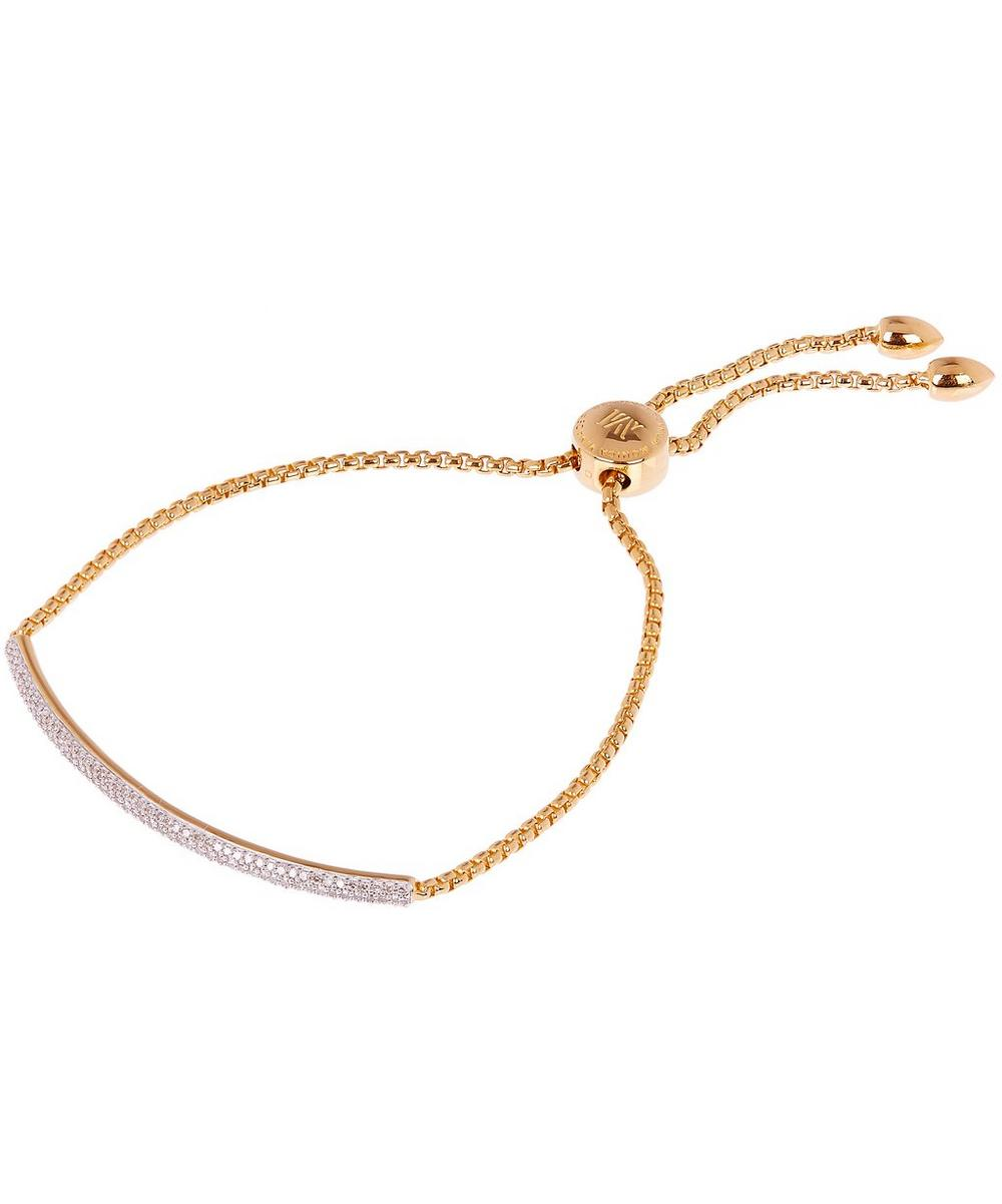 Gold Vermeil Fiji Mini Diamond Bar Bracelet