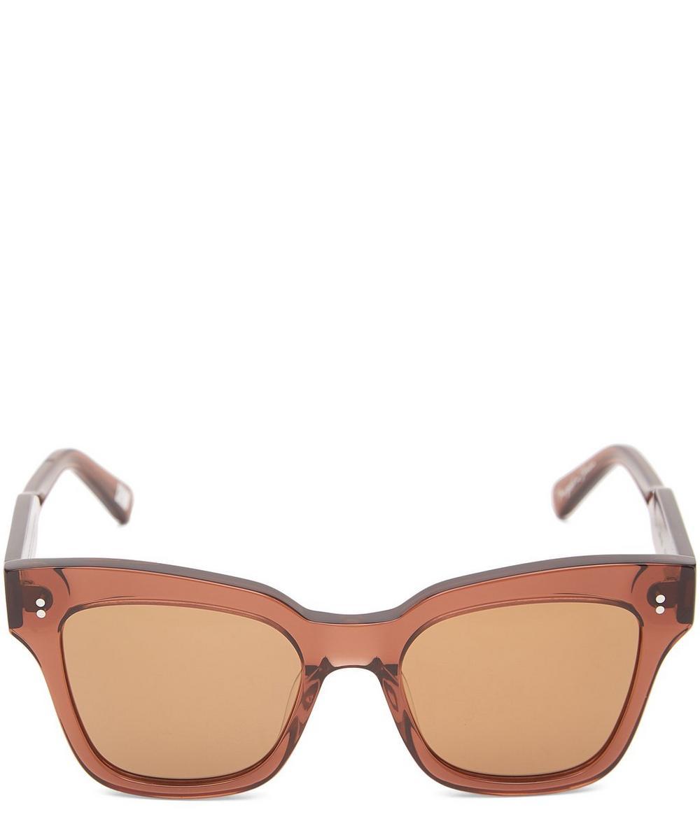 CHIMI 005 Coco Square-Frame Acetate Sunglasses in Black