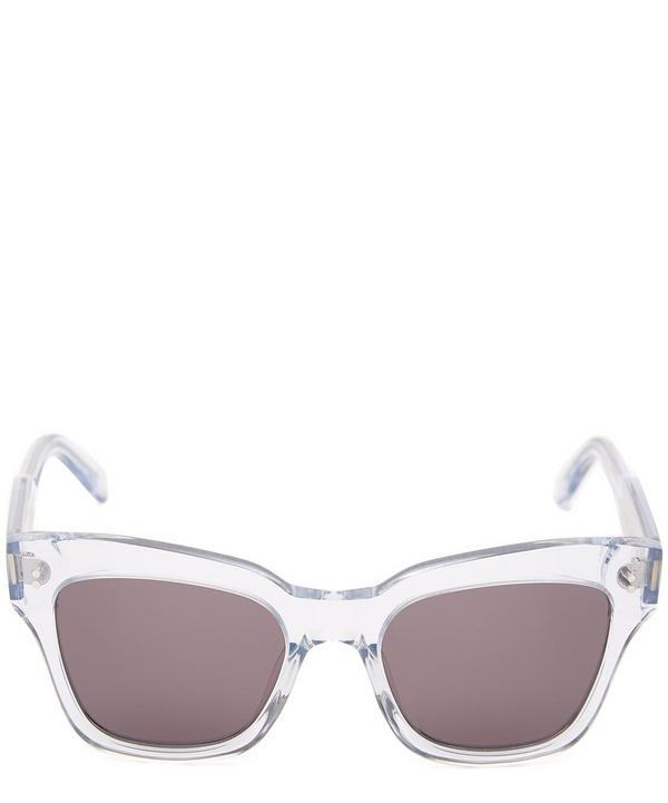 #005 Litchi Square-Frame Acetate Sunglasses