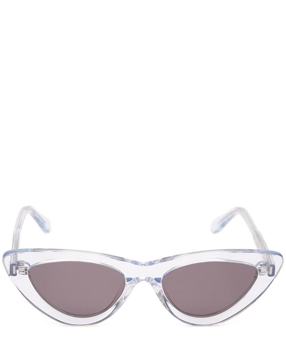 CHIMI 006 Litchi Cat-Eye Acetate Sunglasses