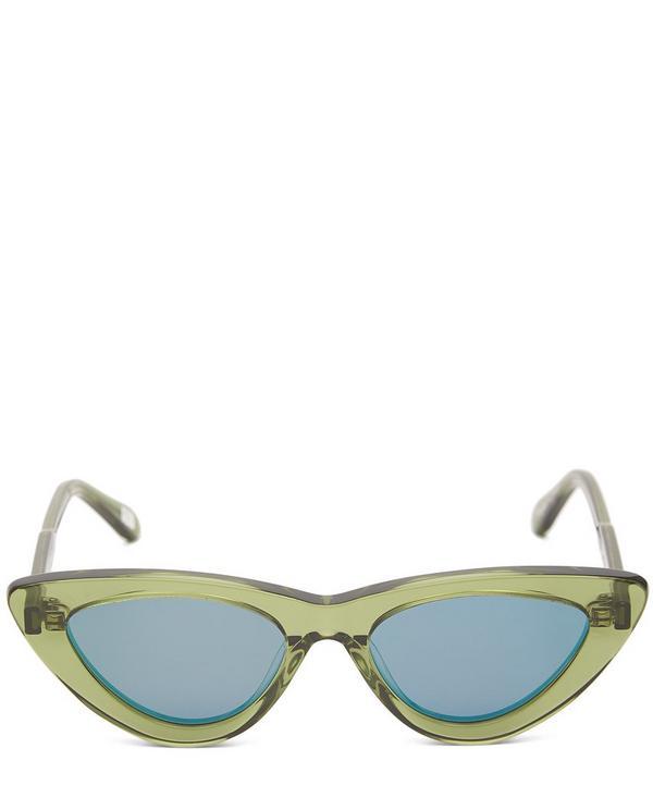 #006 Kiwi Cat-Eye Acetate Sunglasses