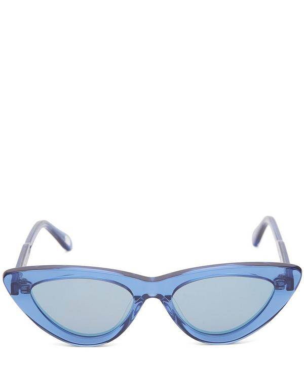 #006 Acai Cat-Eye Acetate Sunglasses