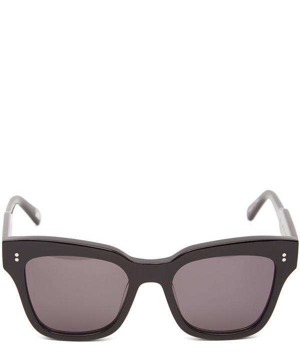 #005 Berry Square-Frame Acetate Sunglasses