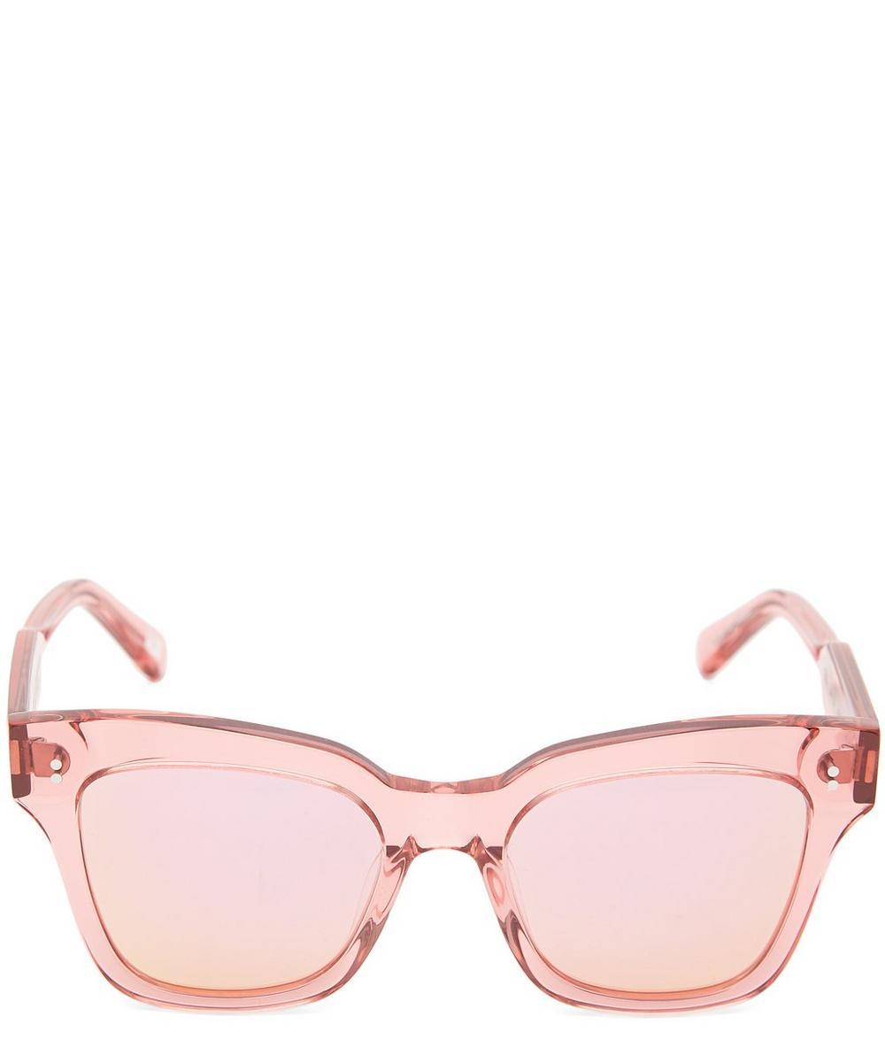 CHIMI 005 Guava Square-Frame Acetate Sunglasses in Pink