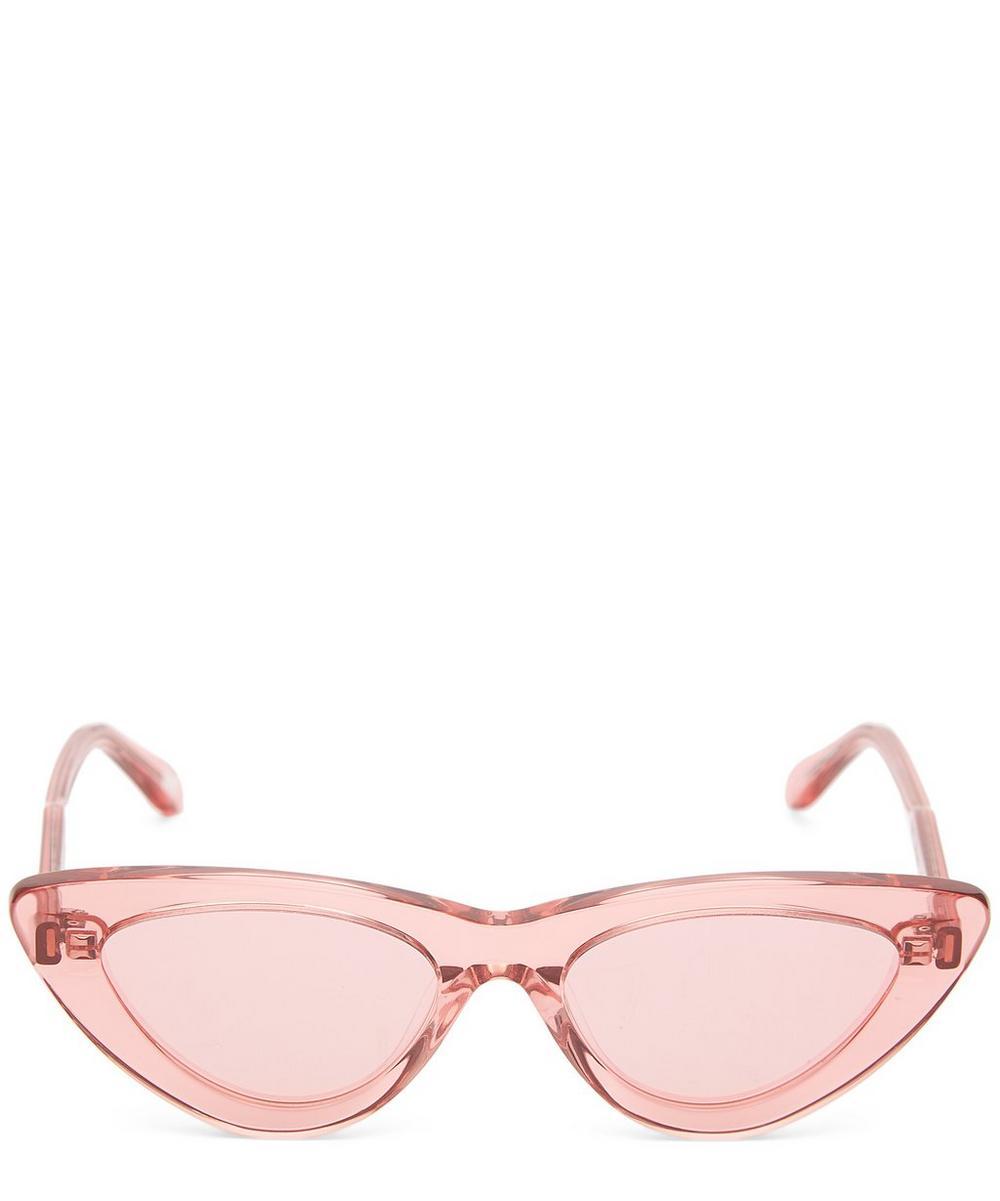 CHIMI 006 Guava Cat-Eye Acetate Sunglasses in Pink
